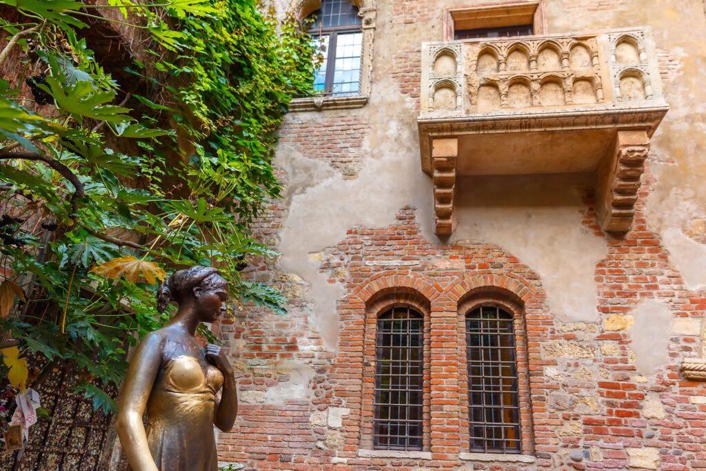 The statue of Juliet in Verona.