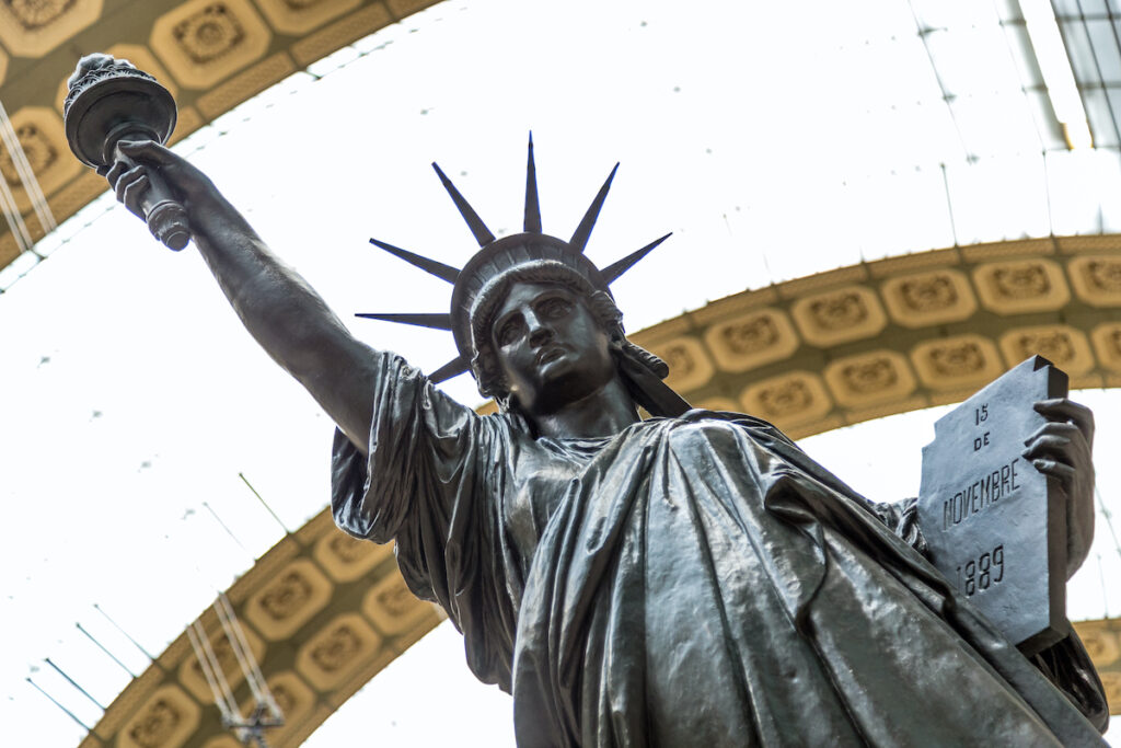 The Statue of Liberty in Musee D'Orsay.