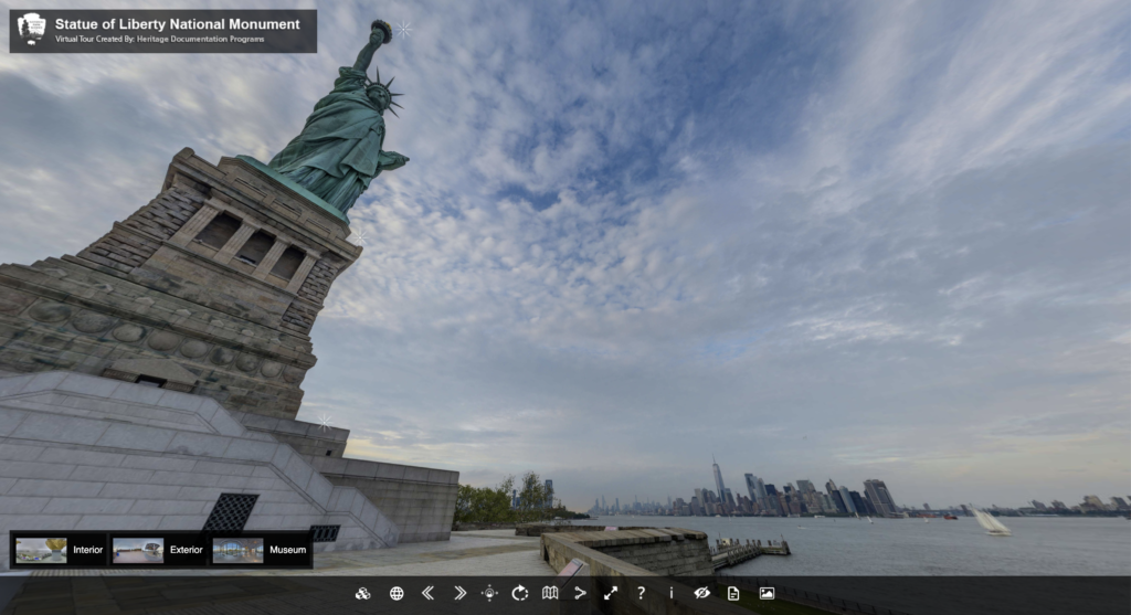 The Statue of Liberty virtual tour.
