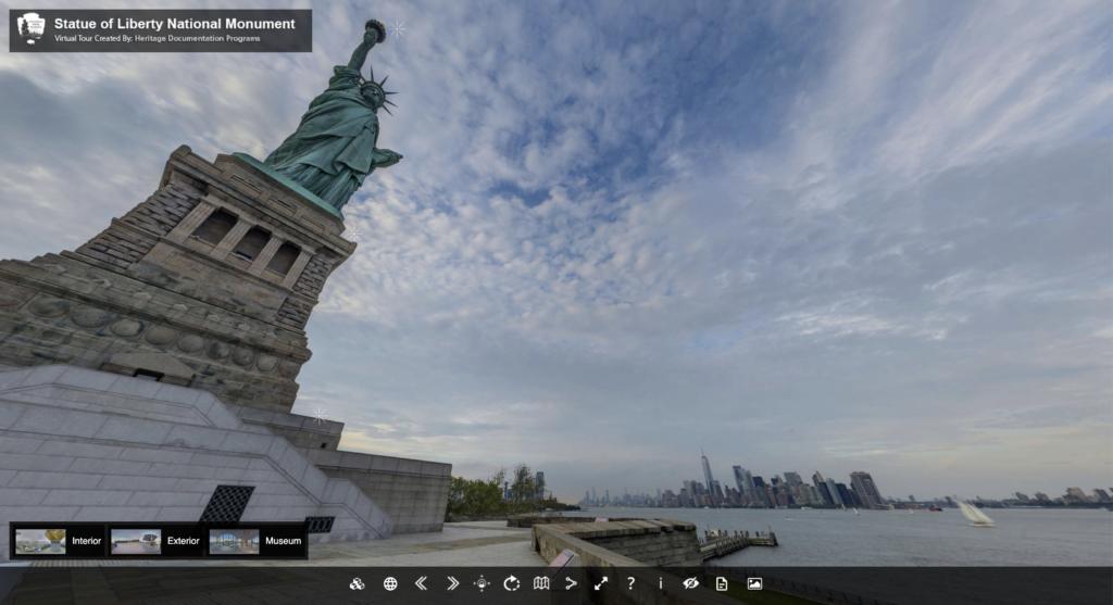 The Statue of Liberty virtual tour.