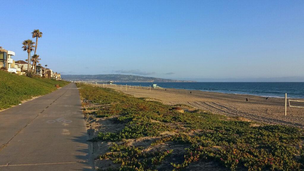 The Strand, a paved path along the California coast.