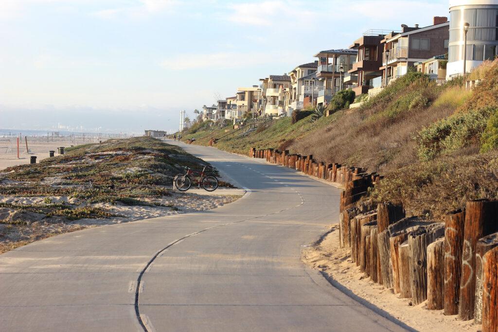 The Strand, a walkway along Hermosa Beach in California.