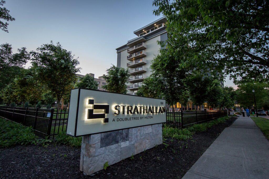 The Strathallan hotel in Rochester.
