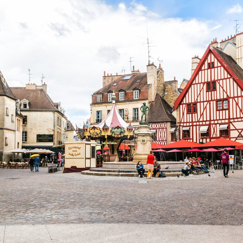 The streets of Dijon, France.