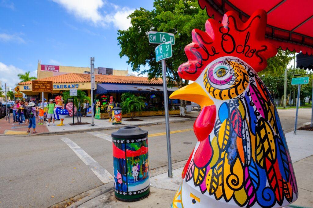 The streets of Little Havana in Miami.