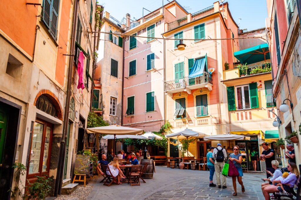The streets of Monterosso al Mare in Cinque Terre.
