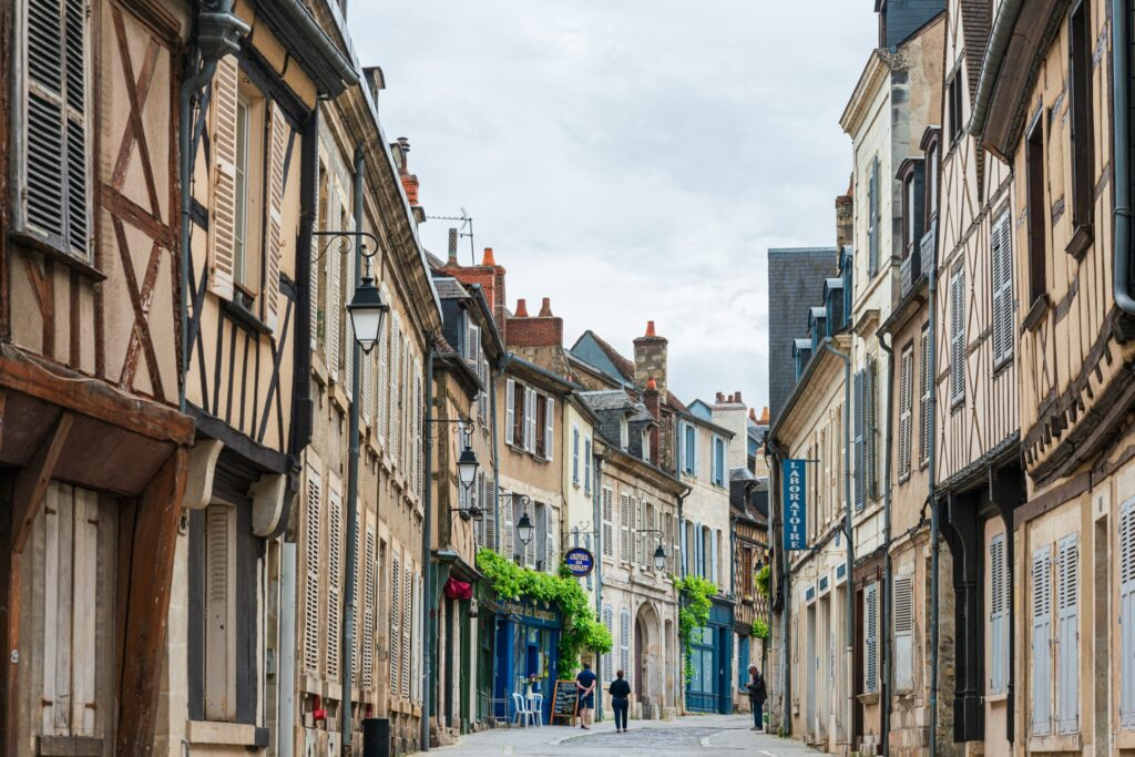 The streets of Old Town Bourges.