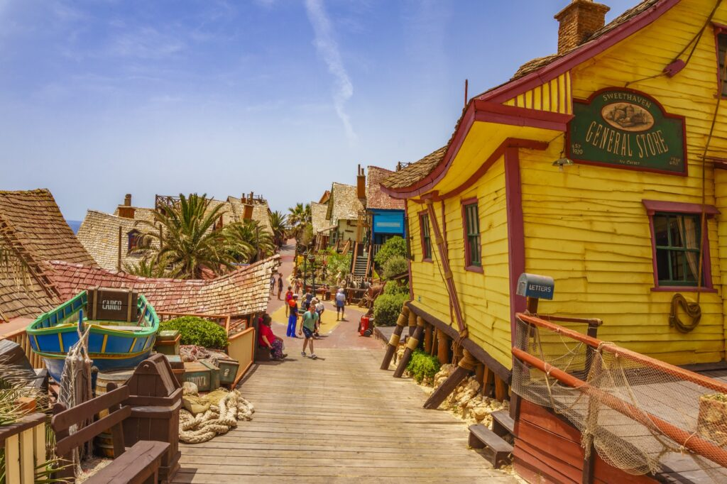 The streets of Popeye Village.
