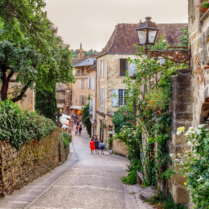The streets of Sarlat-la-Caneda, France.