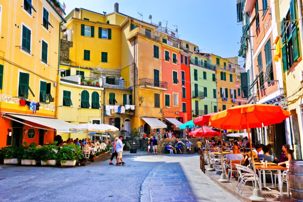 The streets of Vernazza in Cinque Terre.