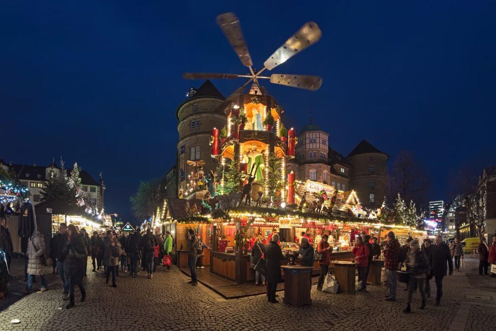 The Stuttgarter Weihnachtsmarkt in Germany.