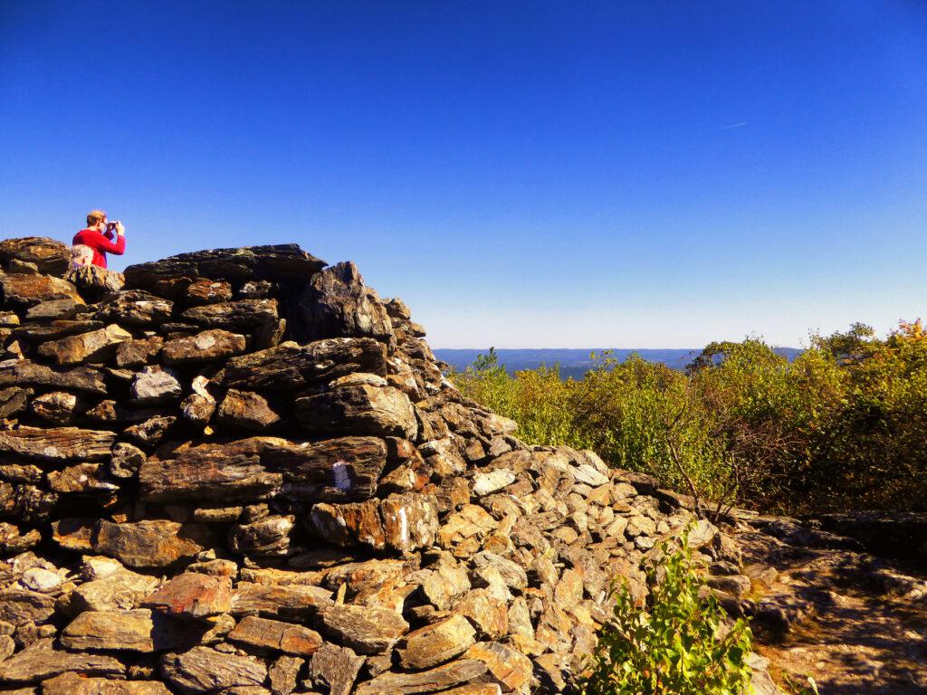 The summit of Bear Mountain in Salisbury, Connecticut.