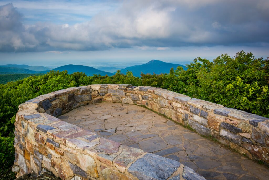 The summit of Hawksbill Mountain in Shenandoah National Park.