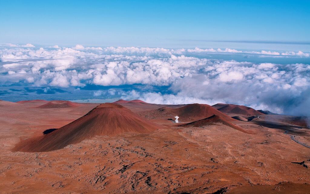 The summit of Mauna Kea in Hawaii.