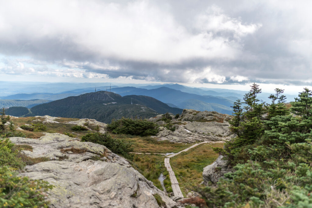 The summit of Mount Mansfield in Vermont.