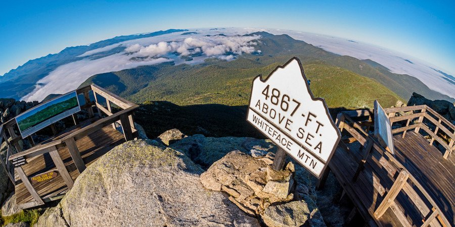 The summit of Whiteface Mountain in New York.