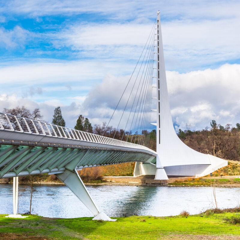 The Sundia Bridge in Redding, California.