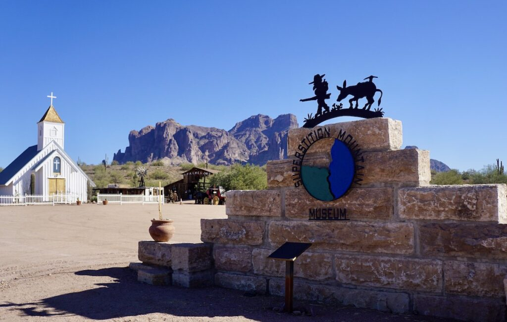 The Superstition Mountain Museum along Arizona's Apache Trail.