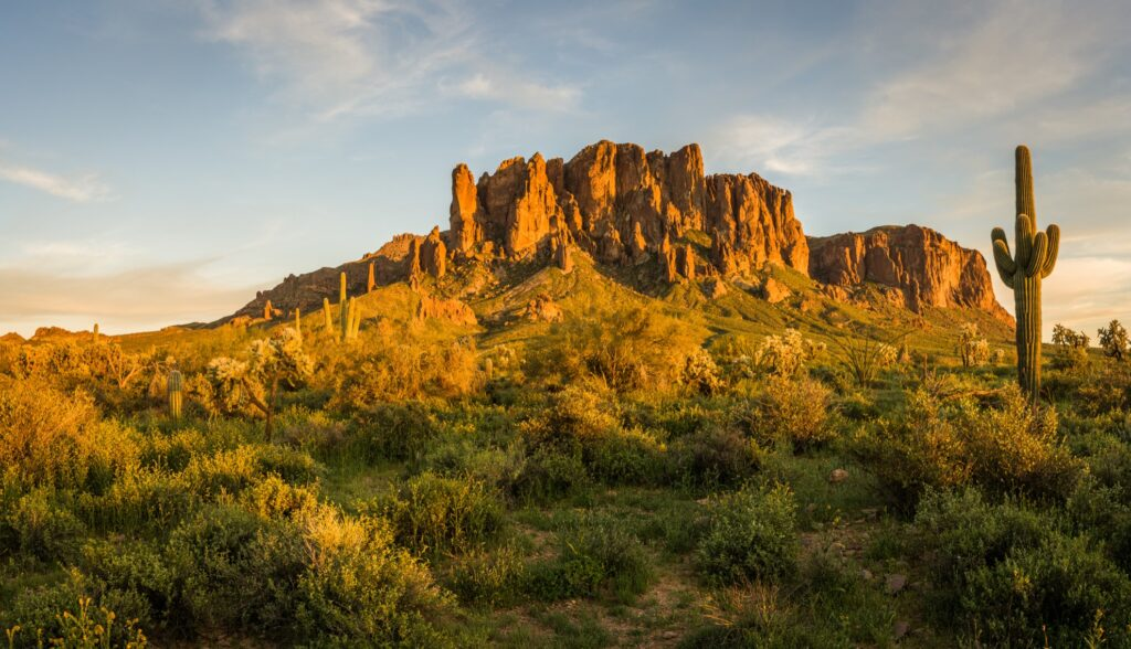The Superstition Mountains in Arizona.