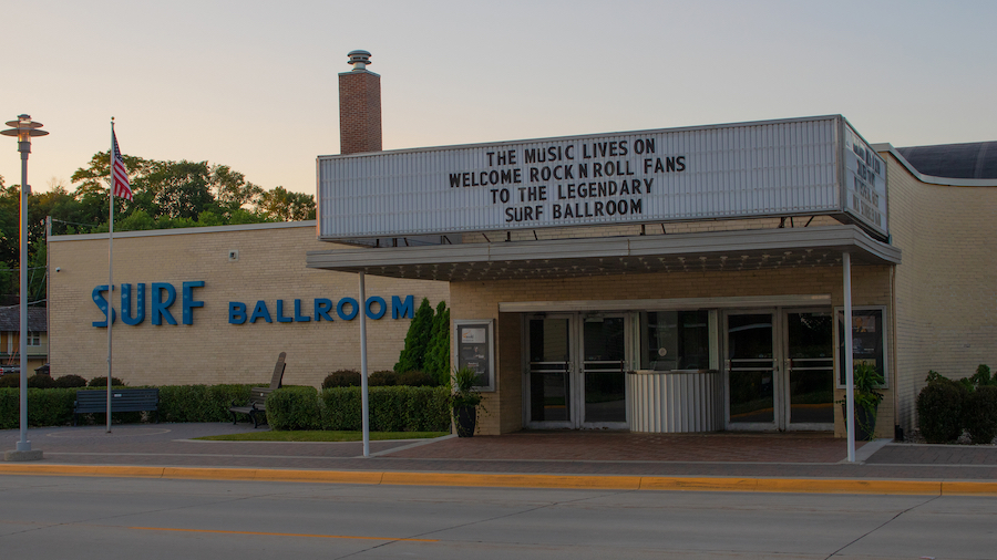 The Surf Ballroom in Clear Lake, Iowa.