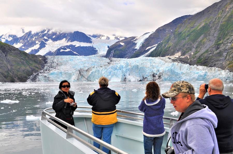 The Surprise Glacier near Whittier, Alaska.