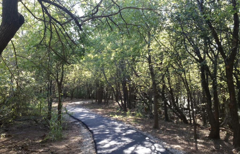 The Sutton Wilderness Trail in Norman, Oklahoma.
