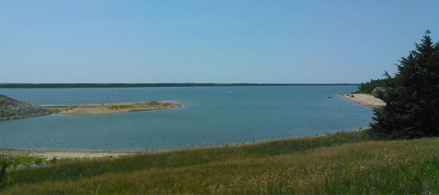 The Swanson Reservoir State Recreation Area in Nebraska.