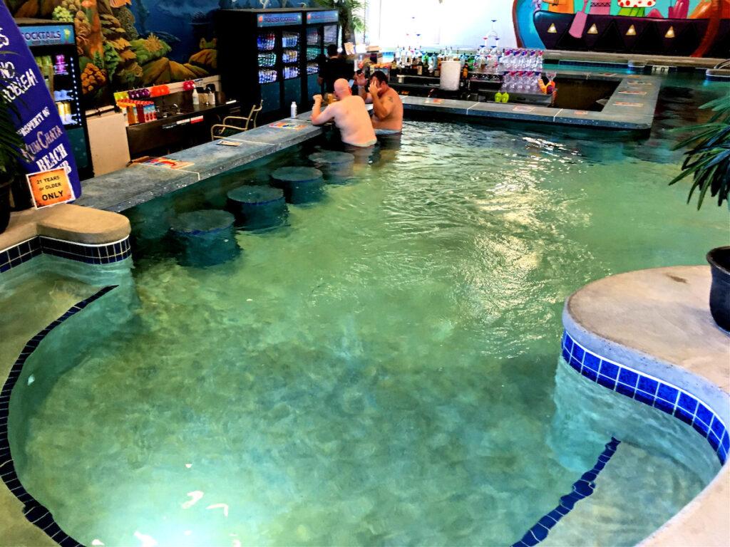 The swim-up bar at Kalahari, a waterpark in the Poconos.