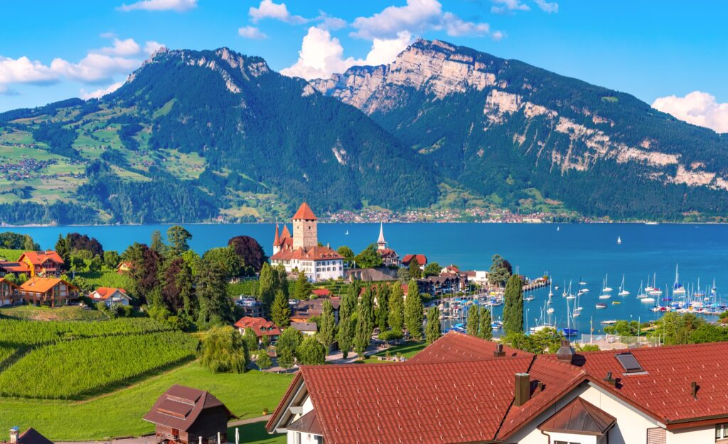 The Swiss town of Spiez.