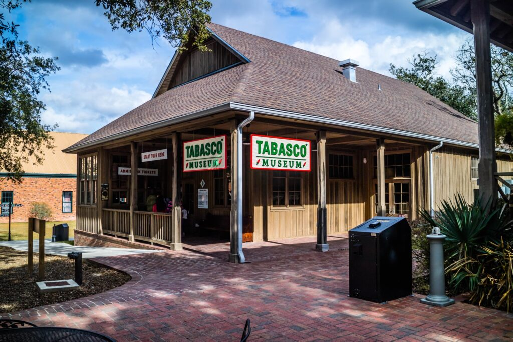 The Tabasco hot sauce museum in Avery Island.