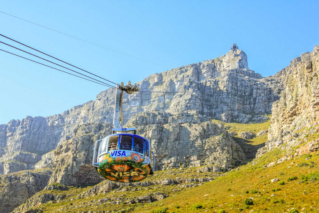The Table Mountain Aerial Cableway in Cape Town.