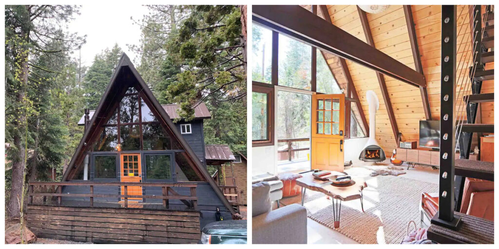 The Tahoe A-Frame, a cabin rental in California.