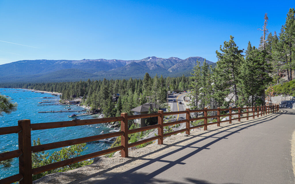 The Tahoe East Shore Trail at Lake Tahoe.