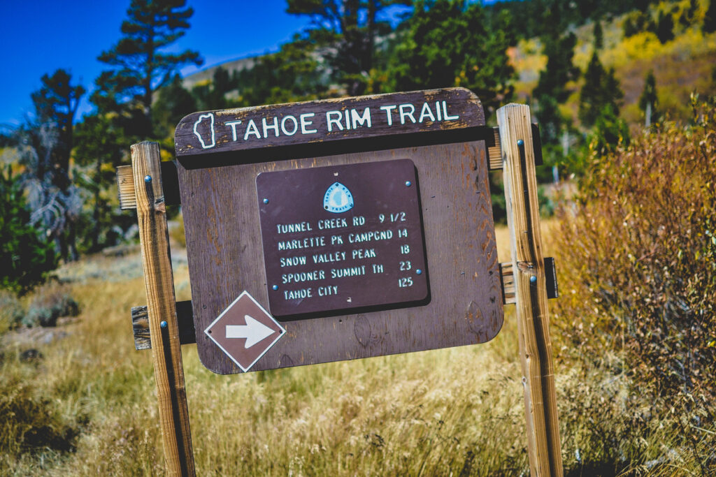 The Tahoe Rim Trail at Lake Tahoe.