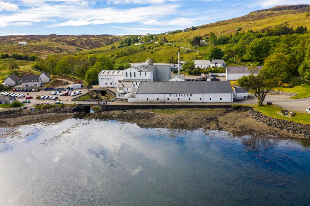 The Talisker Distillery on the Isle of Skye.