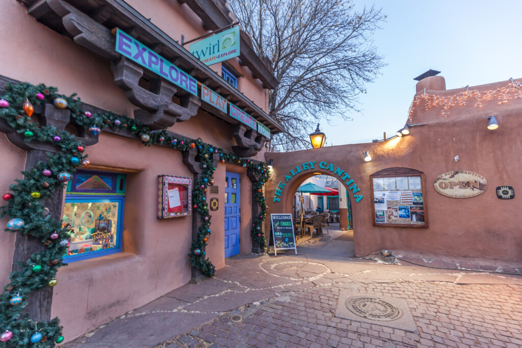 The Taos Plaza in New Mexico.