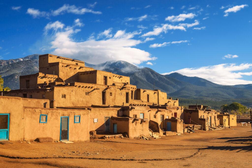 The Taos Pueblo in New Mexico.