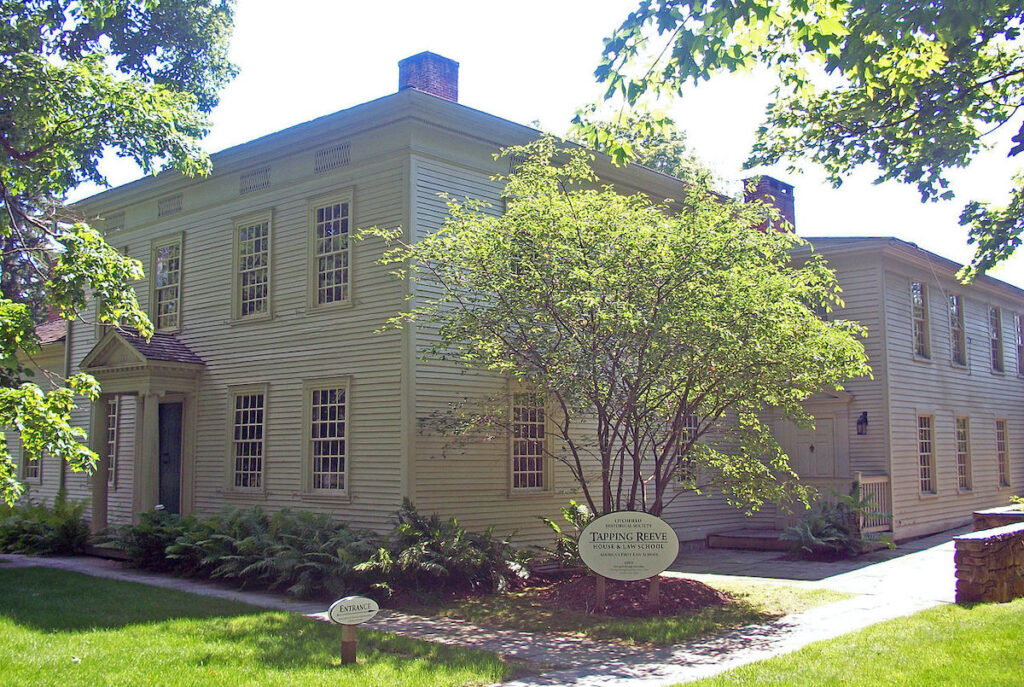 The Tapping Reeve House and Litchfield Law School.