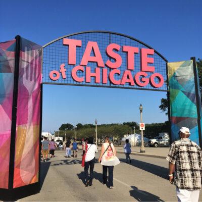 The Taste of Chicago festival.