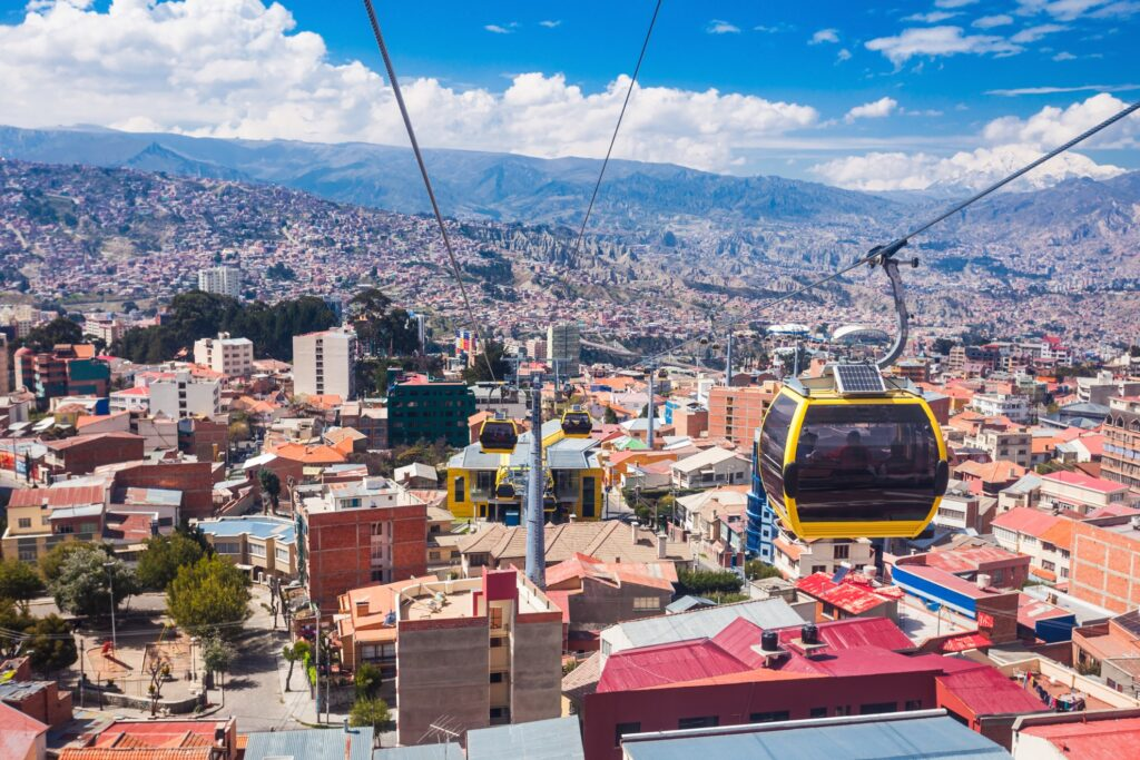The Telefericos over La Paz, Bolivia.