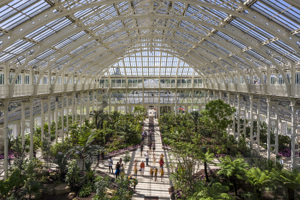 The Temperate House at Kew Gardens.