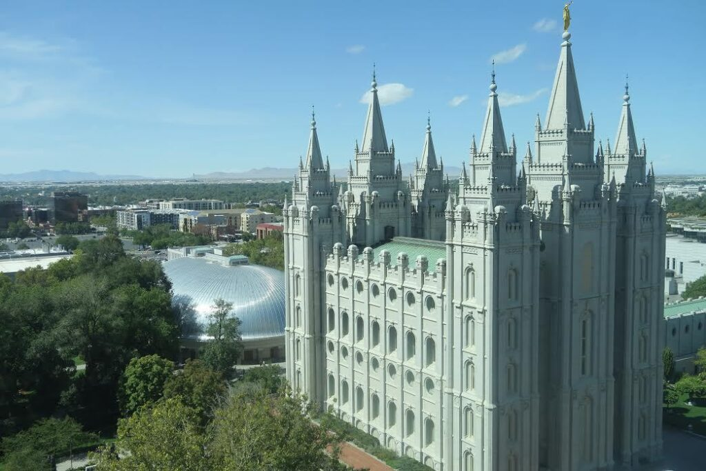 The Temple in Salt Lake City.