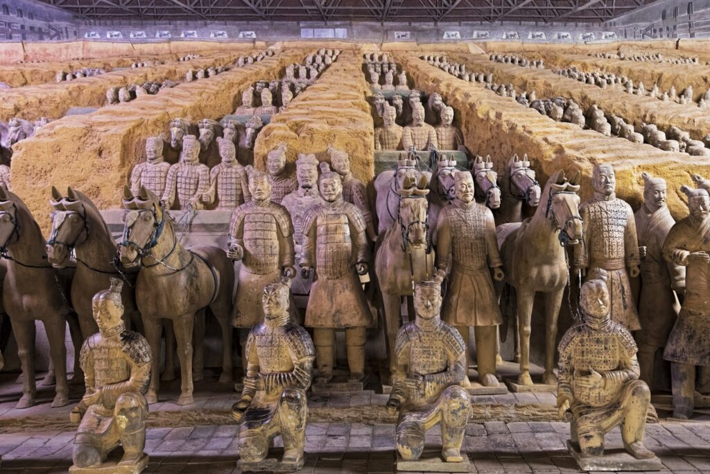 The Terracotta Army in Xi'an, China.