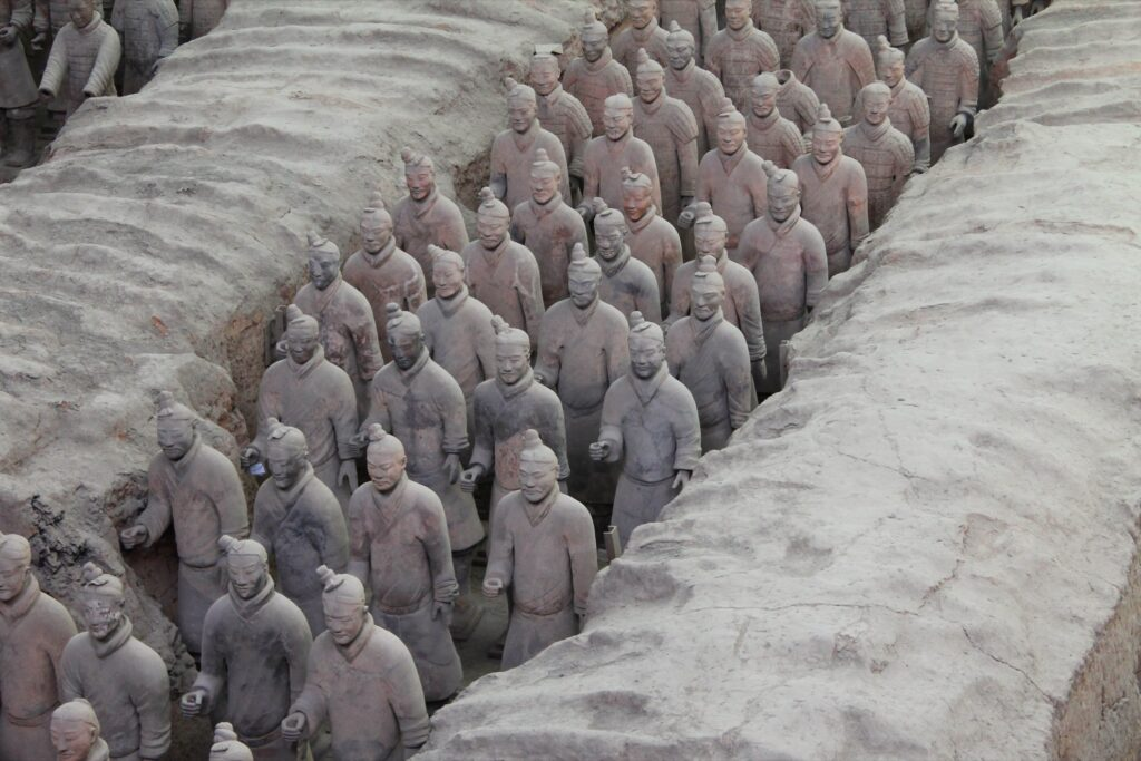 The Terracotta Army in Xi'an.