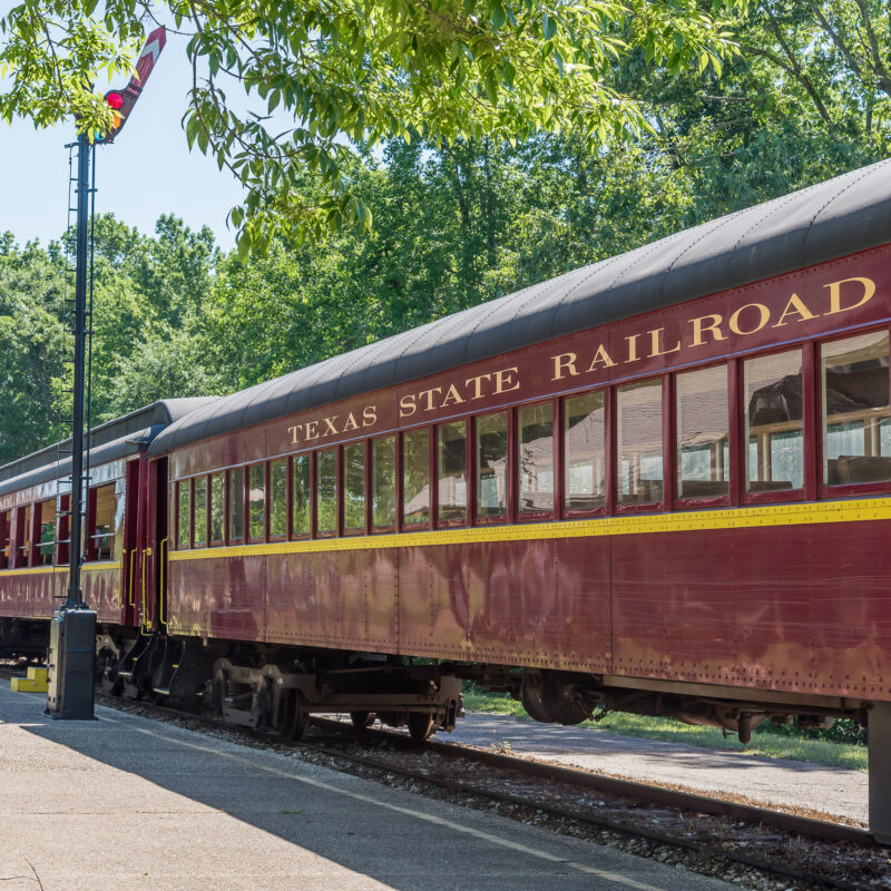 The Texas State Railroad in Palestine, Texas.