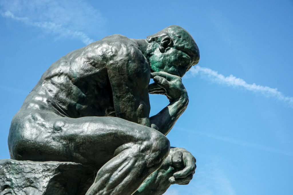 The Thinker sculpture at the Rodin Museum.