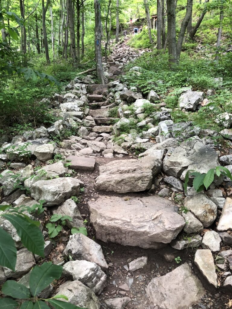 The Thousand Step Trail in Mount Union, Pennsylvania.