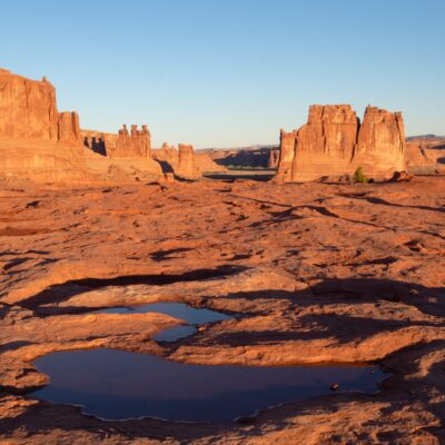 The Three Gossips at Arches National Park near Moab, Utah.