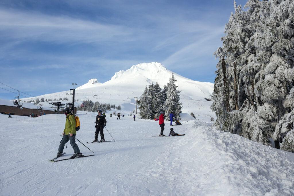 The Timberline Ski Area on Mt. Hood in Oregon.