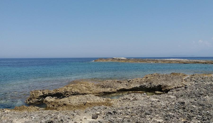 The tiny Greek island of Diapolo.